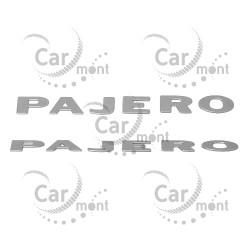 Naklejka napis literki na błotnik PAJERO - srebrna - Pajero II - MB782945
