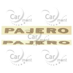 Naklejka napis literki na błotnik PAJERO - złota - Pajero - MB787228