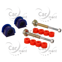 Łącznik + tuleja stabilizatora 26mm x2 - tył - Pajero I, II Galloper - poliuretan