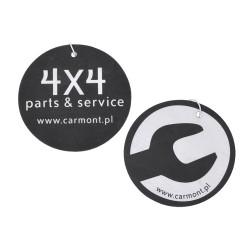 Zawieszka - zapach samochodowy (black-okrągły) - 4x4 parts&service