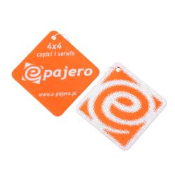 Zawieszka - zapach samochodowy (kwadrat-orange) - e-Pajero