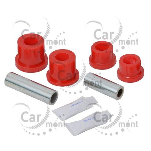 Tuleja przedniego wahacza dolnego x2 - Pajero II L200 Pajero Sport - MB633870 - poliuretan