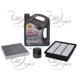 Zestaw olej silnikowy + 3 filtry - Hyundai Tucson KIA Sportage 1.6 Gdi